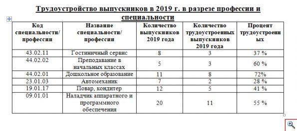 трудоустройство 2019